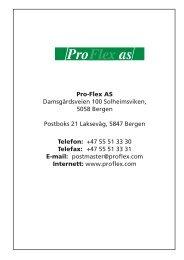 Katalog i pdf Pro-Flex AS for