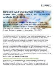 Carcinoid Syndrome Diarrhea Treatment Market Opportunity Analysis, 2026
