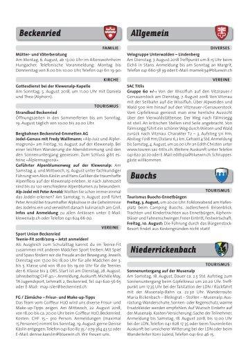 Gemeindespalten KW31 / 03.08.18