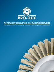 MULTI-FLEX SANDING SYSTEMS + PRO-FLEX SANDING BRUSHES