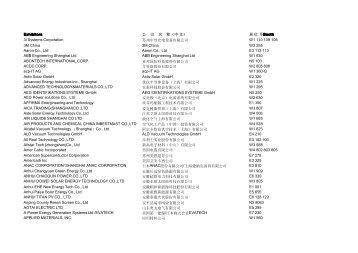 SNEC2011展商名单1.7(pdf) - (中国)有限公司工业业务领域工业 ...