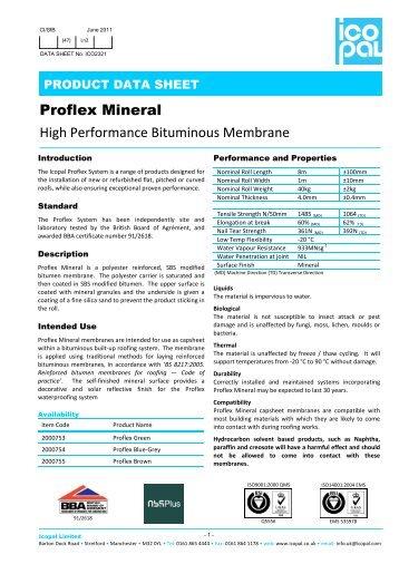 Proflex Mineral capsheet - Icopal