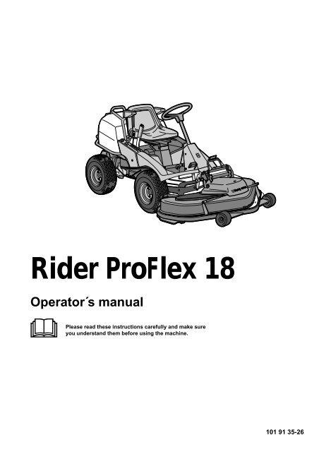 OM, Rider ProFlex 18, 2001-02 - Husqvarna