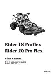 OM, Rider 18 ProFlex, Rider 20 ProFlex, 1999-01 - Husqvarna