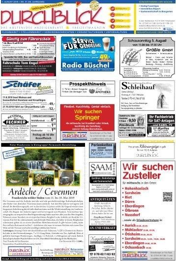 Durchblick Vaihingen, Ausgabe Nr. 31