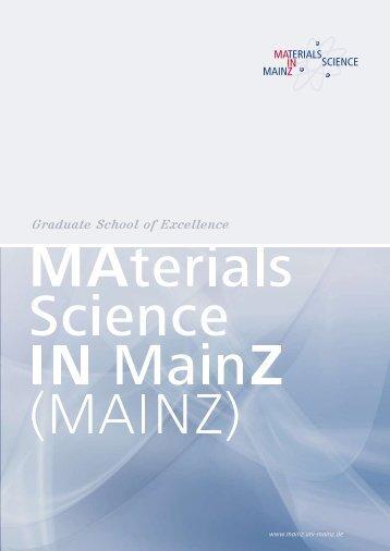 Graduate School of Excellence - Johannes Gutenberg-Universität ...