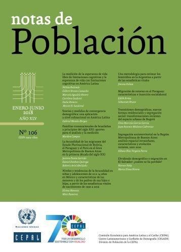 Notas de Población N° 106