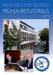 Programmheft Frühjahrstutorials 2012 - Internationale Akademie für ...