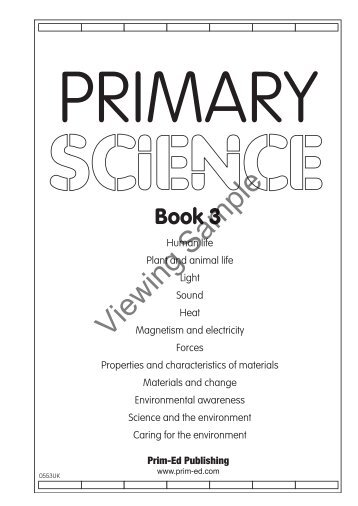 PR-0553UK Primary Science - Book 3
