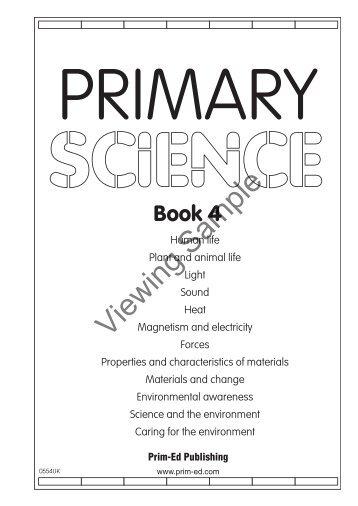 PR-0554UK Primary Science - Book 4