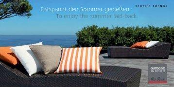 Entspannt den Sommer genießen. - proflax textilmanufaktur