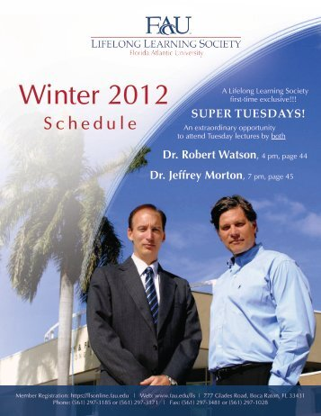 Winter 2012 - Florida Atlantic University