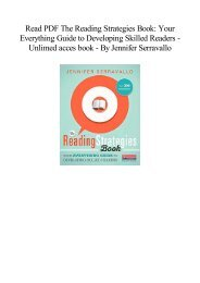 [Free] Download The Reading Strategies Book Your Everything Guide to Developing Skilled Readers   Populer ebook  BY Jennifer Serravallo
