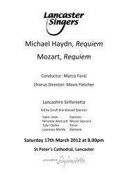 Michael Haydn, Requiem Mozart, Requiem - Lancaster Singers