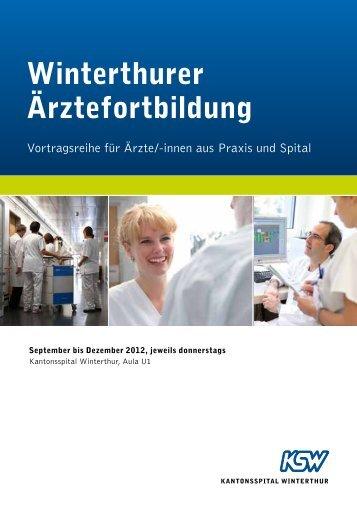 Winterthurer Ärztefortbildung (PDF) - Kantonsspital Winterthur