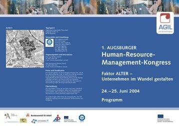1. Augsburger HRM-Kongress - Faktor Alter - Demotrans
