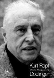 Rapf Kurt - bei Doblinger-Musikverlag