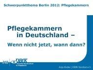 Pflegekammern in Deutschland - wenn nicht jetzt - Heilberufe