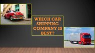 Which car shipping company is best