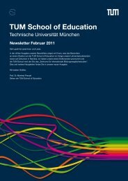 Newsletter Februar 2011 - TUM School of Education