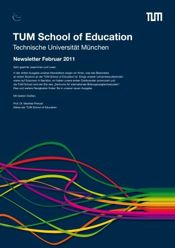 Newsletter Februar 2011 - TUM School of Education