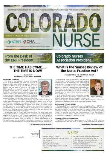 Colorado Nurse - August 2018
