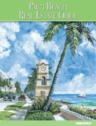 August 2018 Palm Beach Real Estate Guide