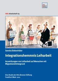 Integrationshemmnis Leiharbeit - Otto Brenner Shop