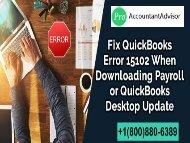 Error 15102 - QuickBooks Learn & Support