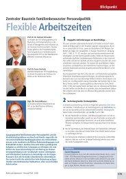 Flexible Arbeitszeiten - Forschungszentrum Familienbewusste ...