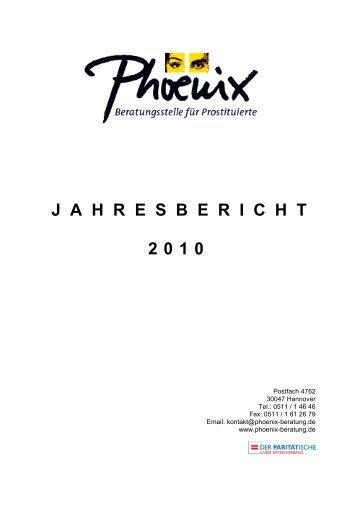 J  A  H  R  E  S  B  E  R  I  C  H  T 2010 - Phoenix Beratung Hannover