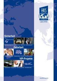 Zeitarbeit VIP-Projekte Sicherheit - HKS Sicherheitsservice GmbH
