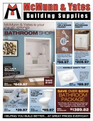 one-stop bathroom shop - McMunn and Yates Building Supplies