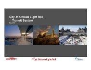 June 2011 Completion of Draft Station Designs ... - Ottawa Light Rail