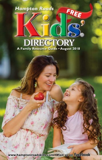 Hampton Roads Kids' Directory: August 2018