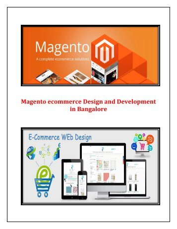 Magento eCommerce Design and Development in Bangalore