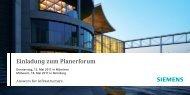 Einladung zum Planerforum - Siemens