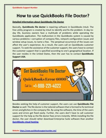 How to use QuickBooks File Doctor for Company File Issues?