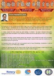 Rotary Bangalore Southwest_Bulletin_Aug18