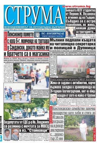 """Вестник """"Струма"""" брой 173"""