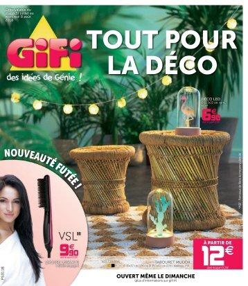 Gifi catalogue 31 juillet-8 août 2018