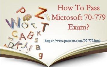 2018 Passcert Microsoft 70-779 exam practice test
