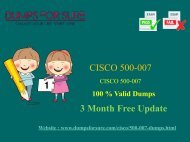 Cisco 500-007 Dumps