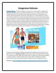 Exogenous Ketones - Effective & Safe Way To Burn Fat Cells!