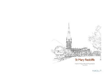 St Mary Redcliffe Options Appraisal July 2018 - Latest drawings from Purcell