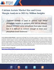 Calcium Acetate Market Supplier, Competition by Manufacturers and Competitor Analysis to 2021 Forecast