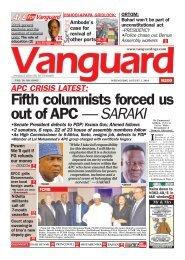 01082018 - APC CRISIS LATEST: Fifth columnists forced us out of APC — SARAKI