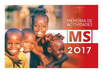 MEMORIA ANUAL DE ACTIVIDADES MS 2017