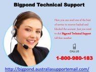 Dial Bigpond Technical Support 1-800-980-183 To Troubleshoot Issues