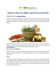Manual for Buy The Right Type Of Essential Oils